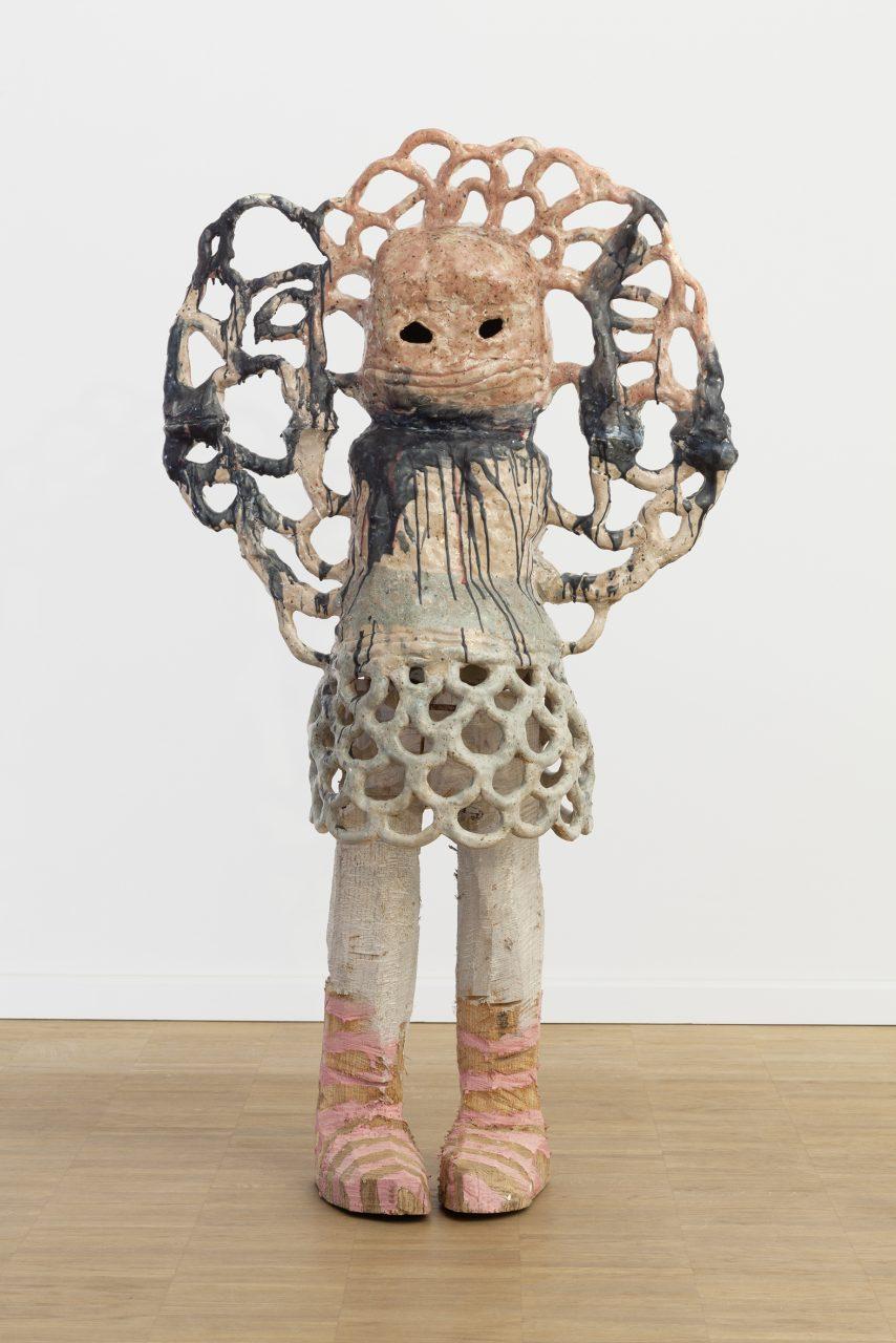 Tochter. 2014. Keramik, Holz, Wachs